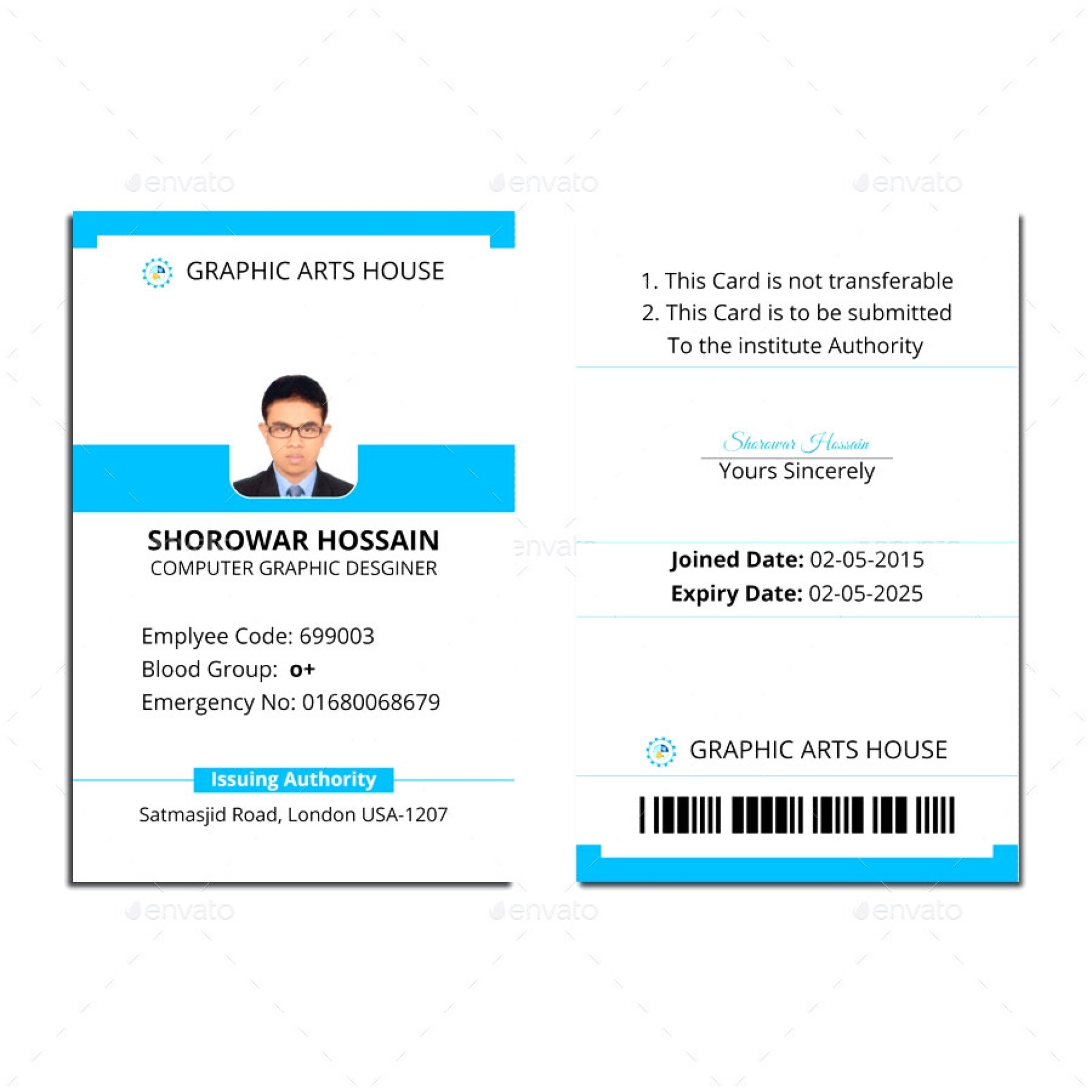 Employee Id Badge Template Free Download