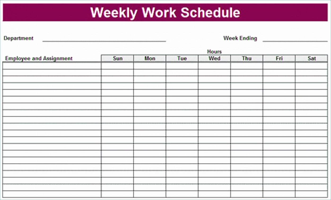 Employee Weekly Schedule Template Pdf