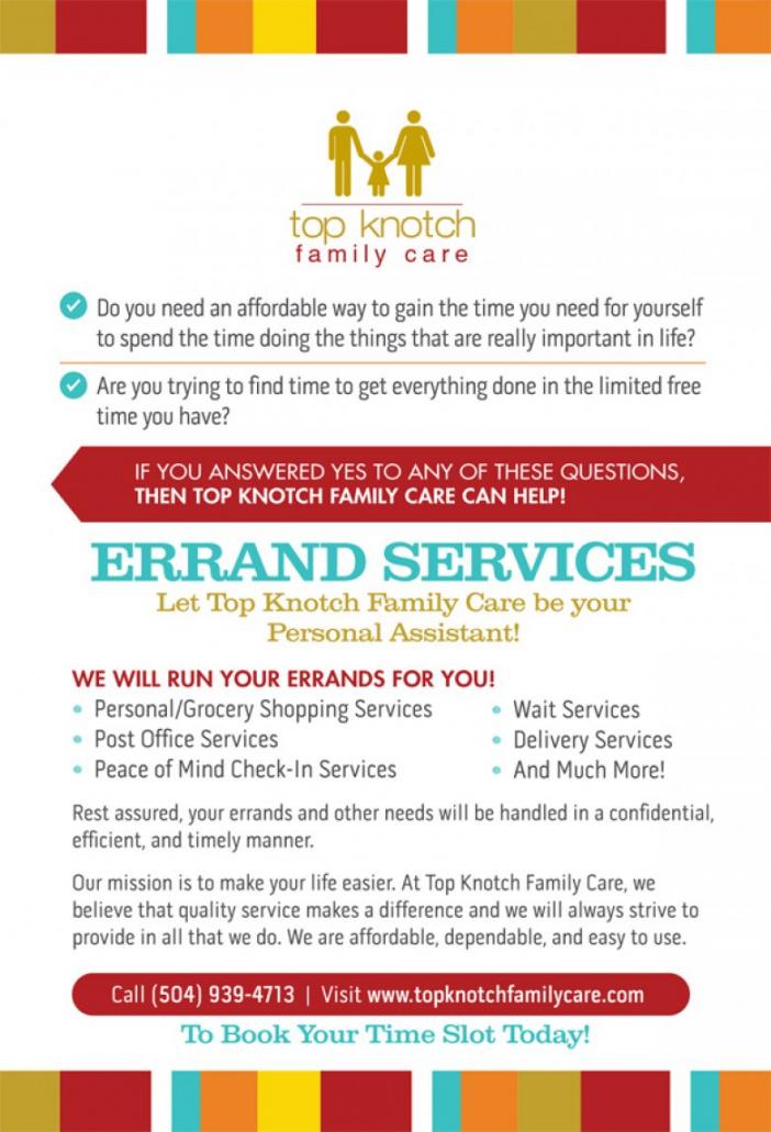 Errand Service Flyers Diff Errand Service Flyer Template