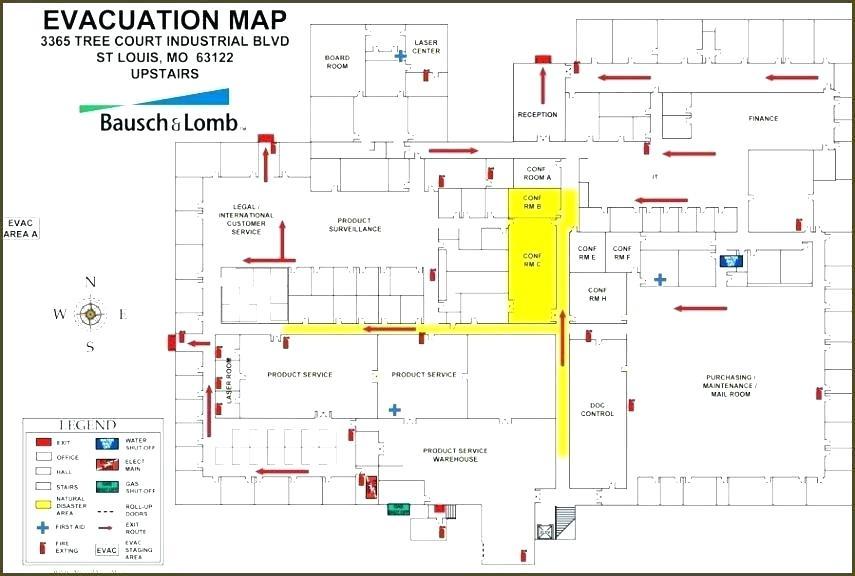 Evacuation Map Template Free