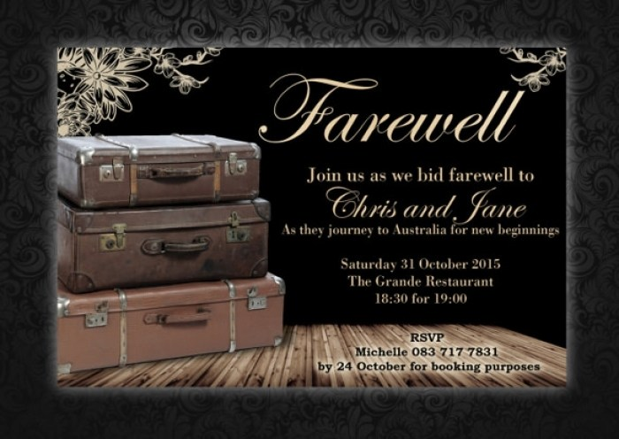 Sample Farewell Invitation Template 8 Download Documents In Pdf