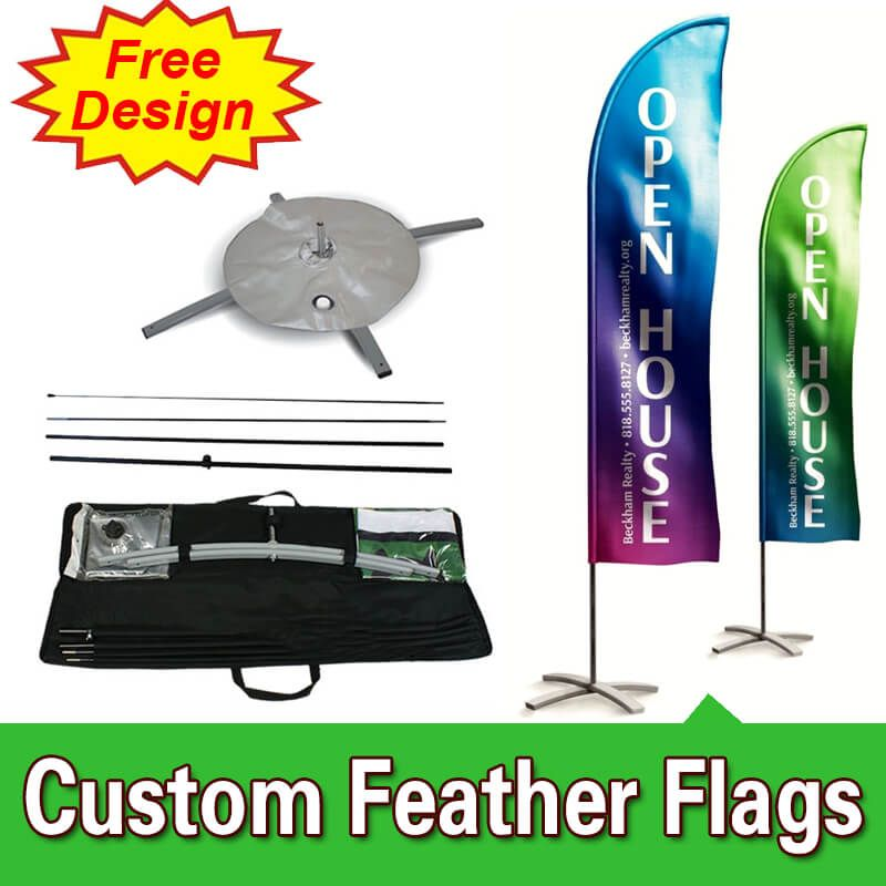 Feather Flag Design Template