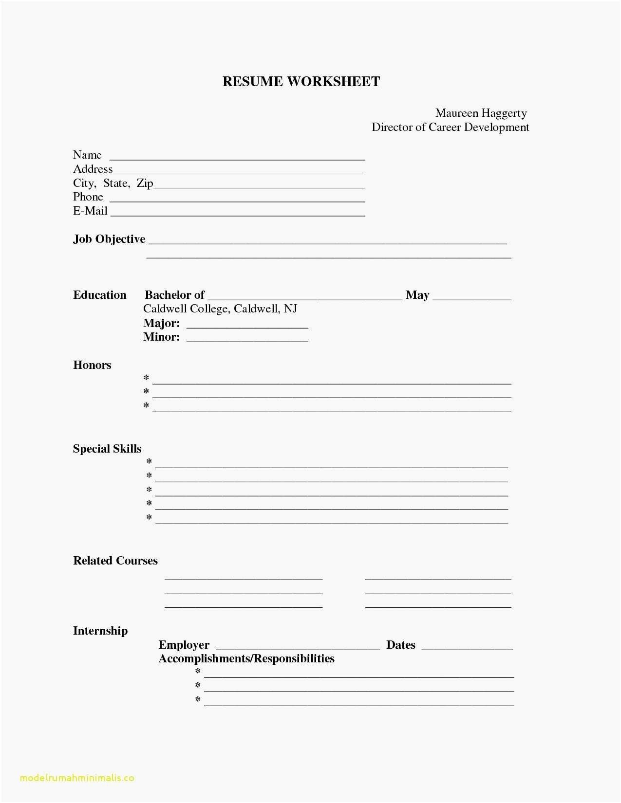 Fill In Resume Template Pdf Lovely Fill In The Blank Resume
