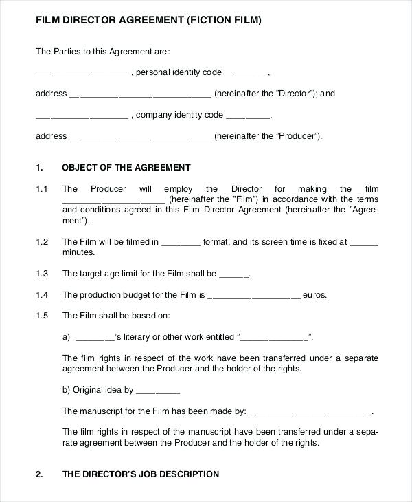Film Contract Template