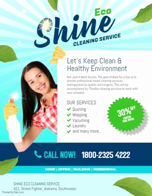 Cleaning Services Flyers Templates Free Template Wfacca