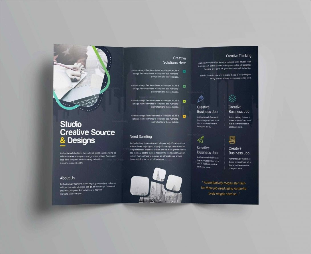 Fold Brochure Blank Brochure Templates Free Download Word