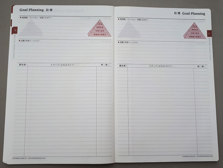 Franklin Covey Goal Setting Template