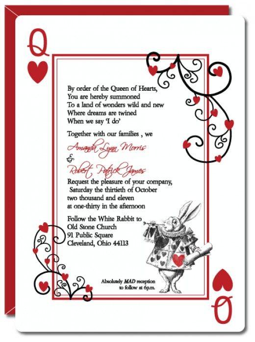 Free Alice In Wonderland Invitation Template