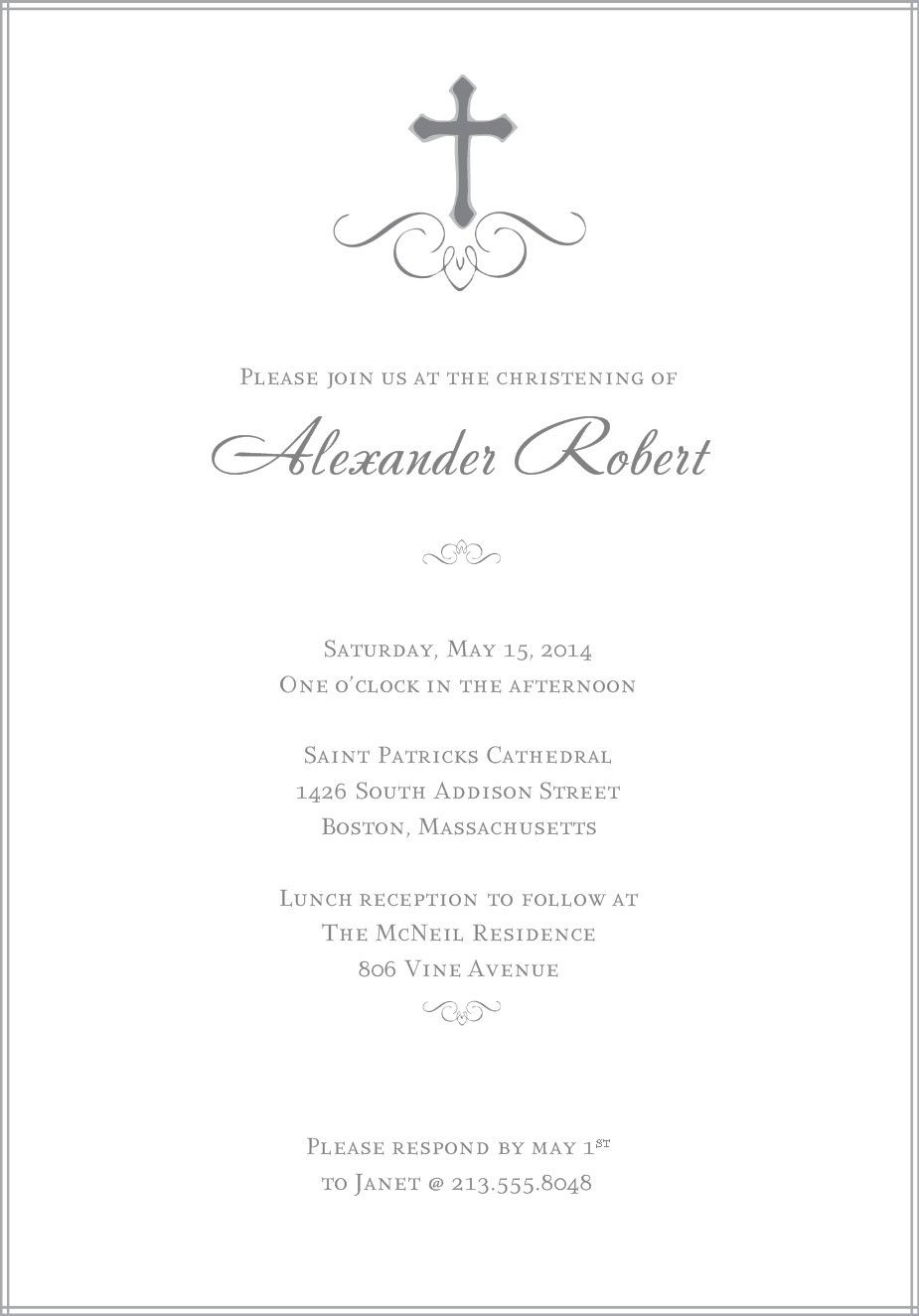 Free Baptism Invitation Templates