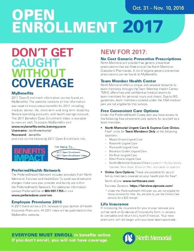 Free Benefits Open Enrollment Flyer Template