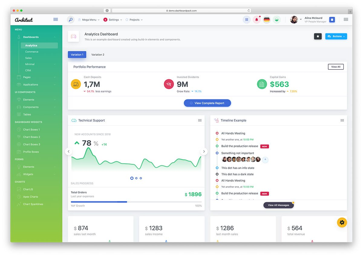 Free Bootstrap Dashboard Templates