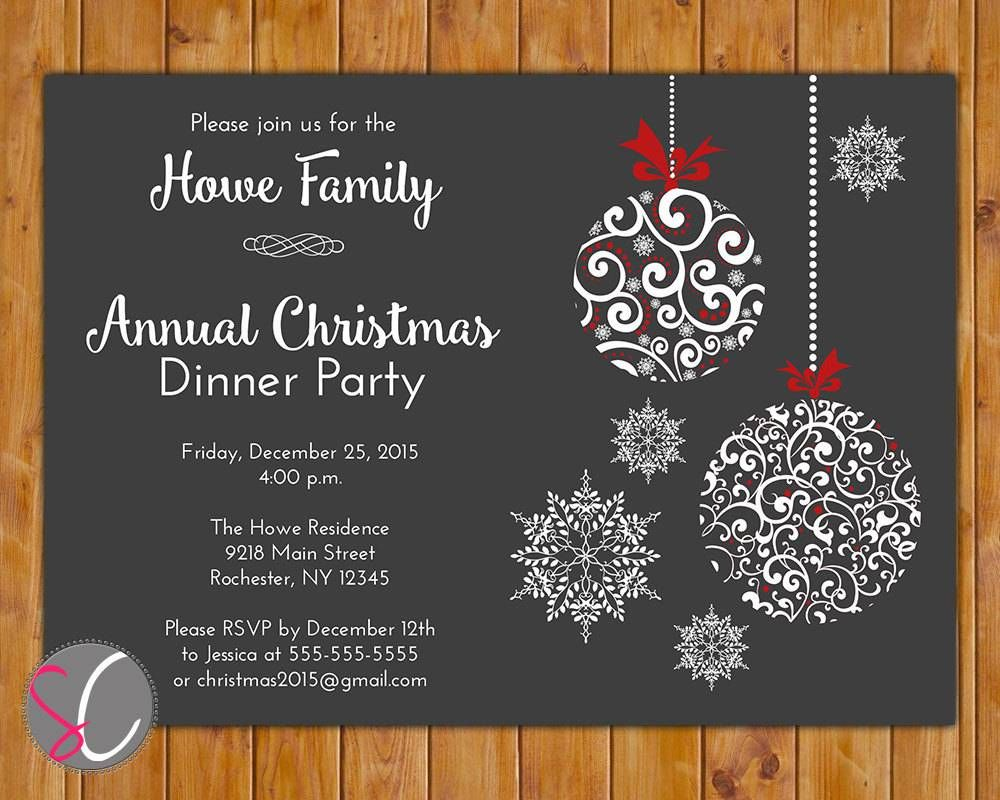 Free Christmas Dinner Invitation Templates