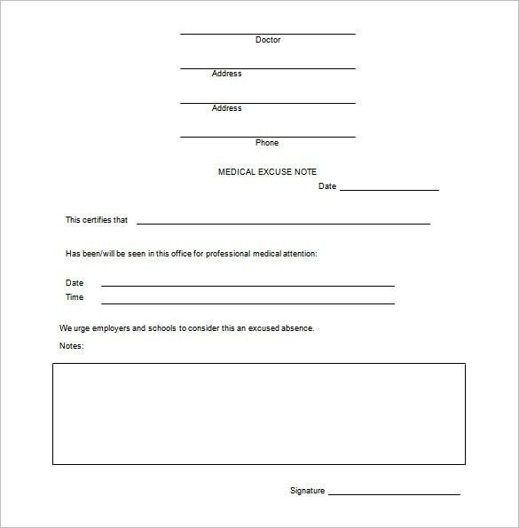 Free Doctor Note Template Download