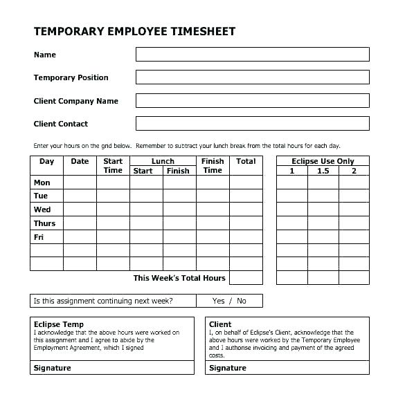 Free Employee Lunch Schedule Template
