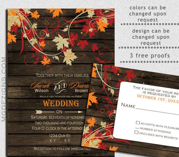 Free Fall Invitation Templates Printable