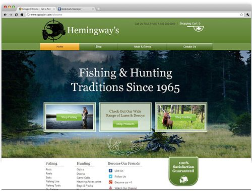 Free Hunting Website Templates