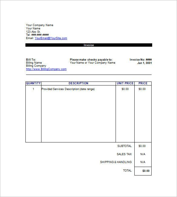 Free Invoice Template Google Docs