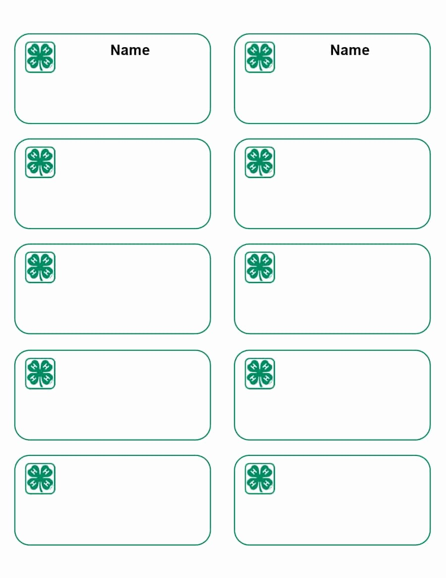 Free Name Badge Template With Photo