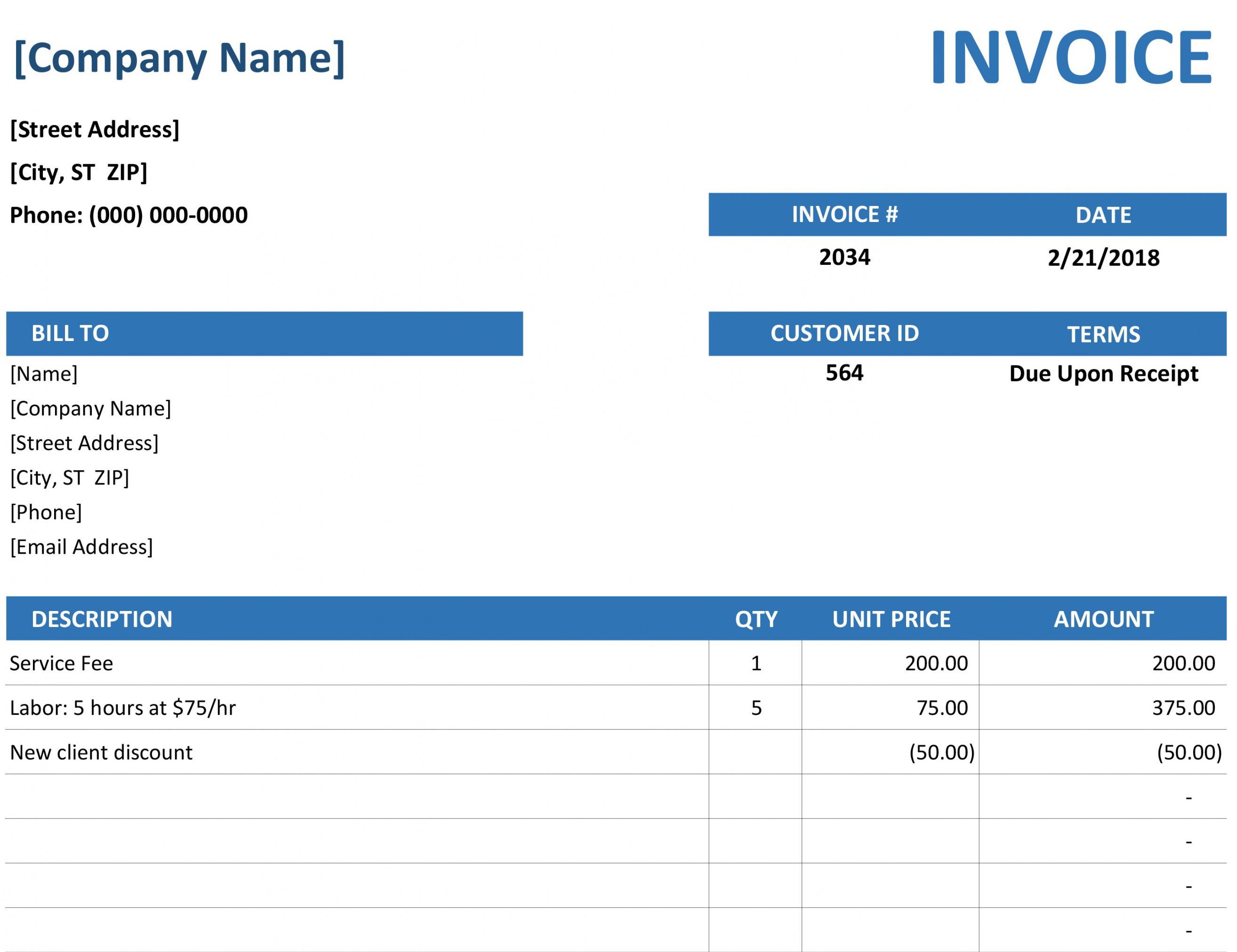 Free Invoices Office Office Cleaning Invoice Template Example Blank