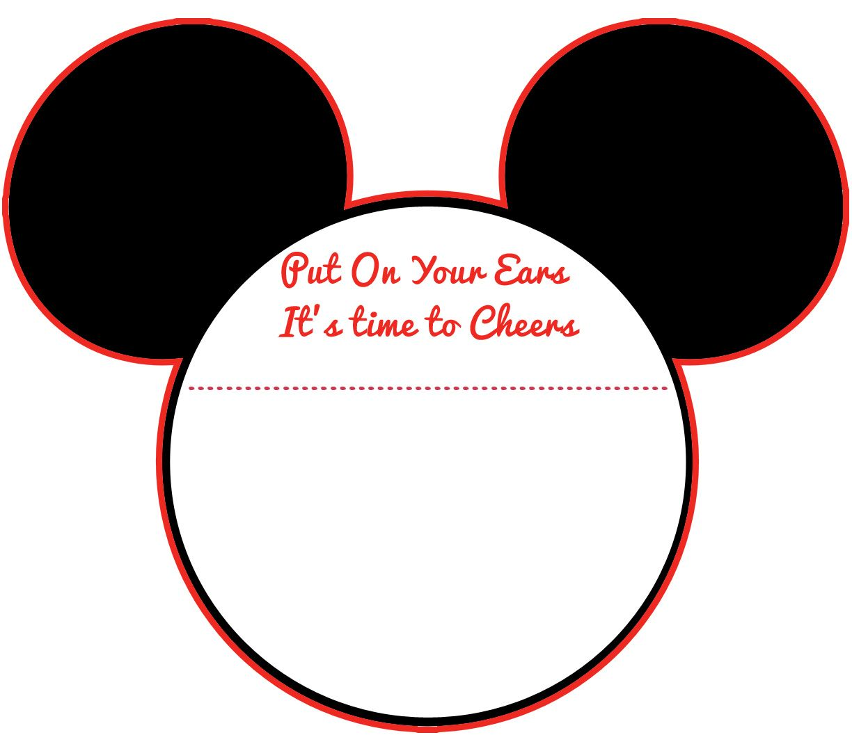 Free Printable Mickey Mouse Invitation Template Free Download