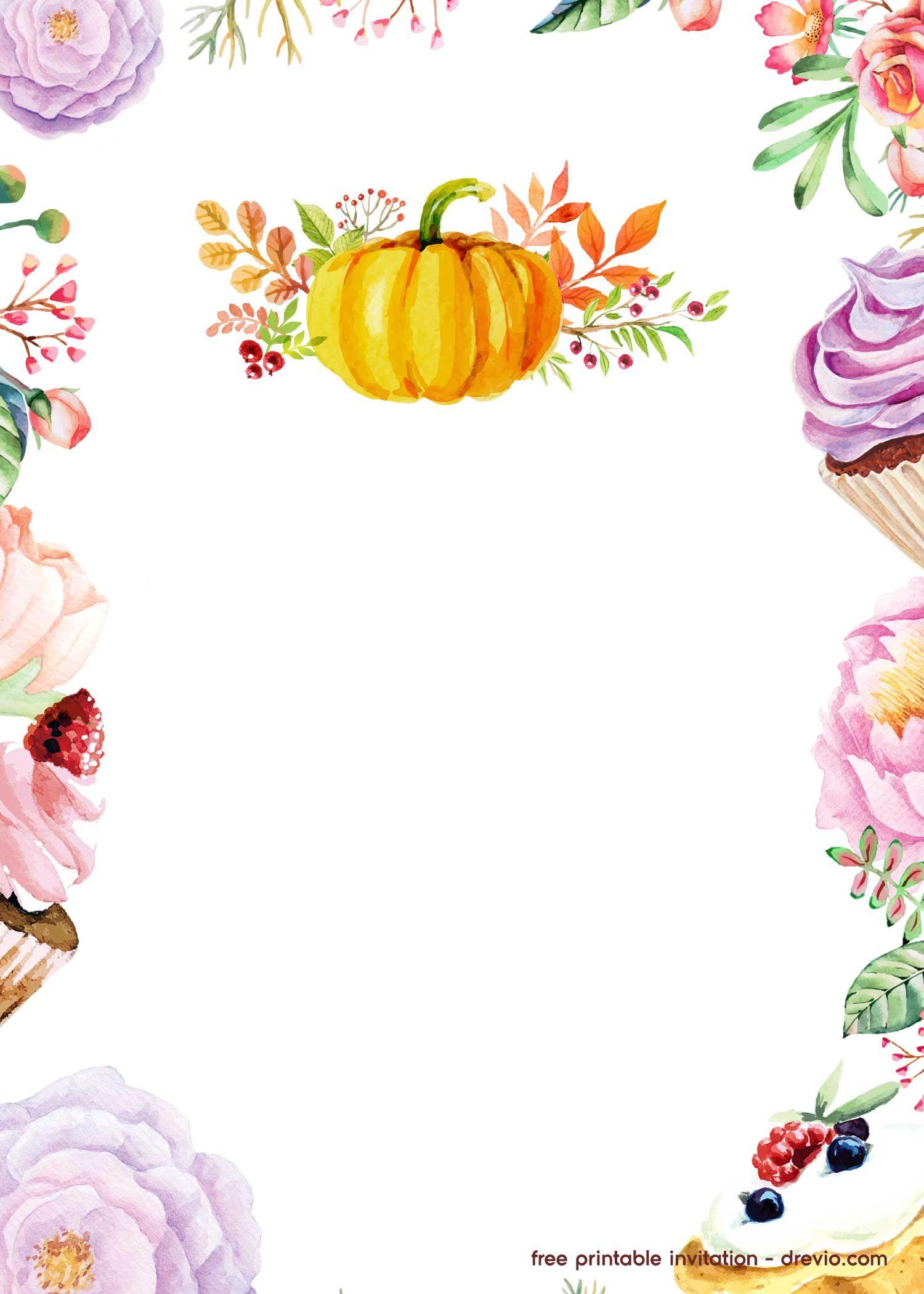 Free Printable Pumpkin Invitation Template
