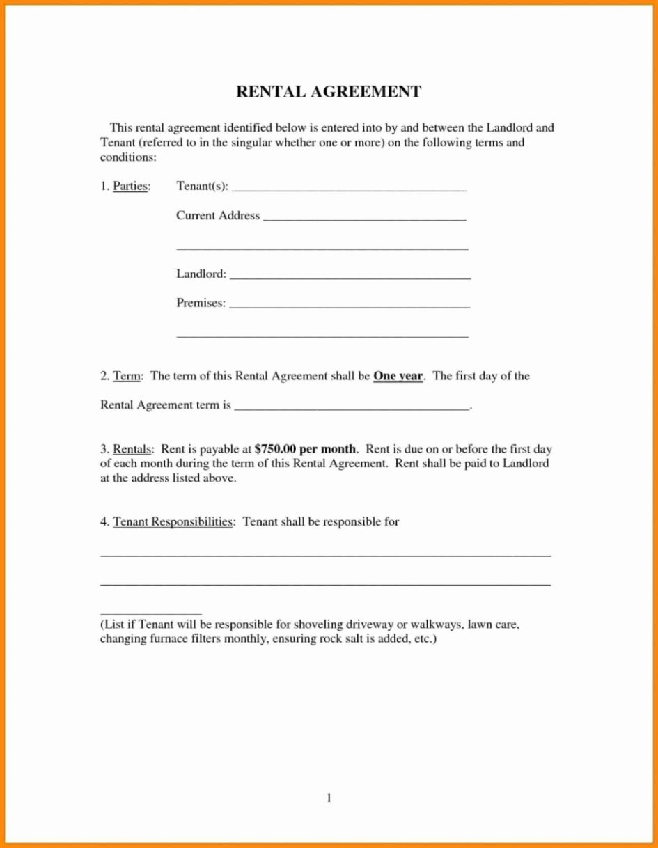 Free Printable Rental Lease Template