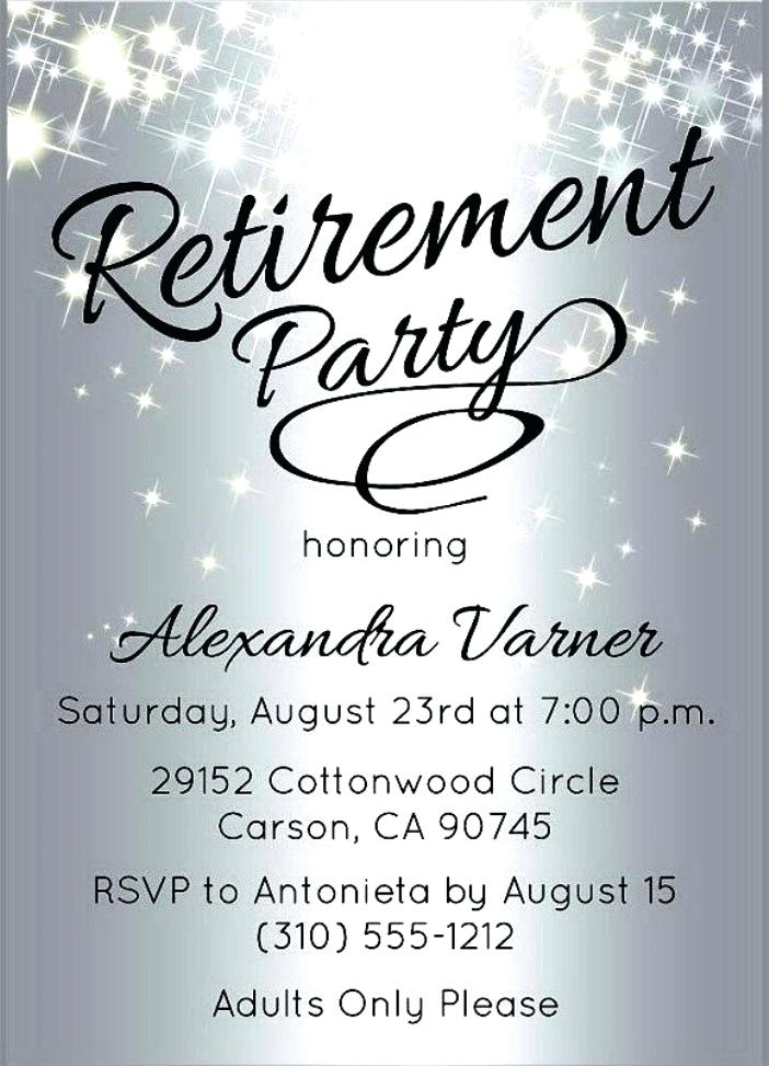 Free Retirement Party Flyer Templates Mark Design