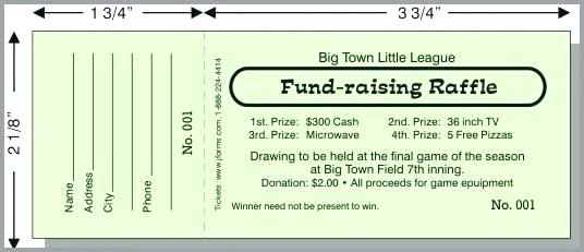 Free Samples Of Raffle Ticket Templates