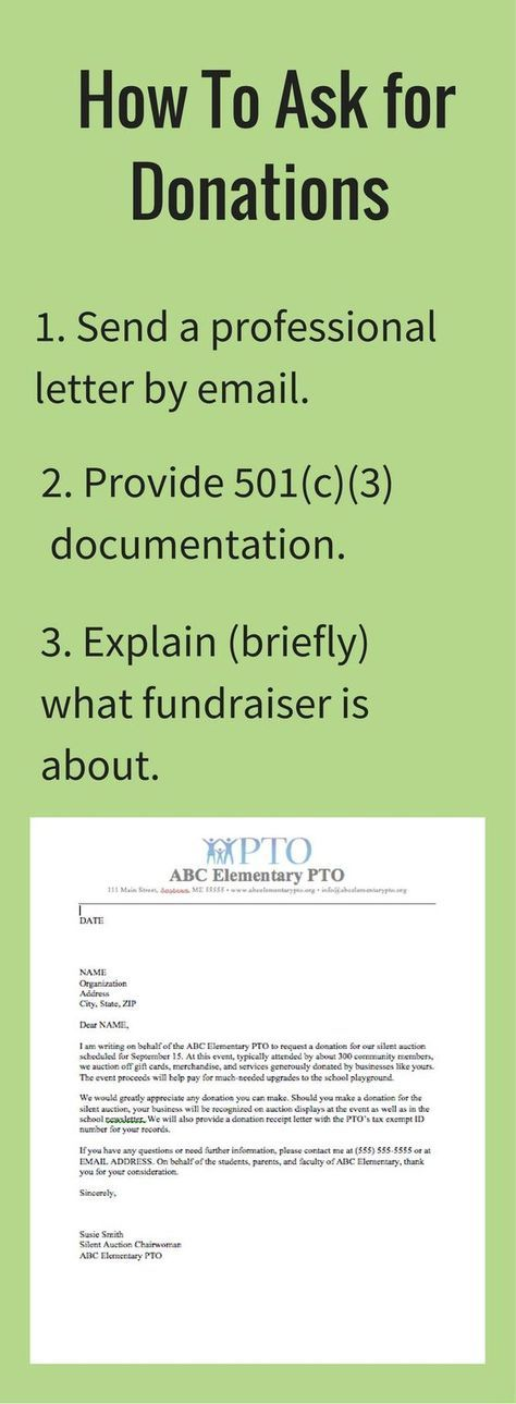 Fundraiser School Donation Letter Template
