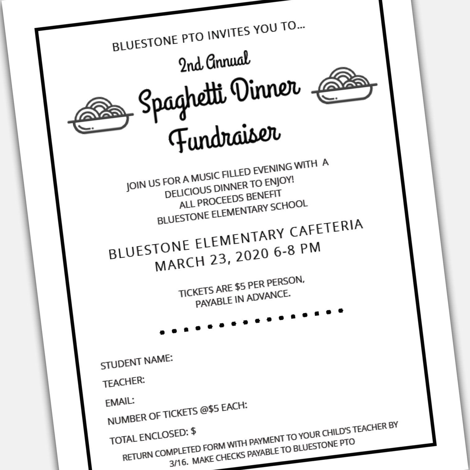Fundraising Dinner Ticket Template