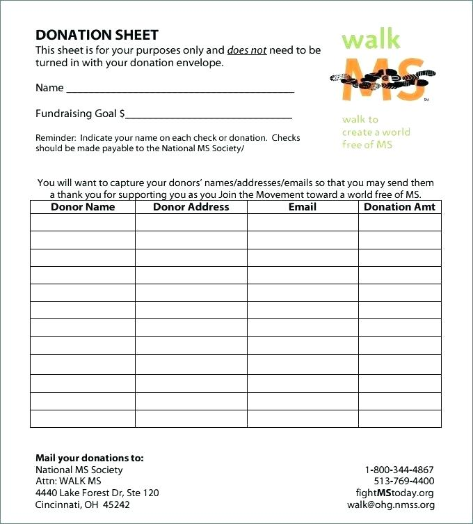 Fundraising Donation Envelope Template Word