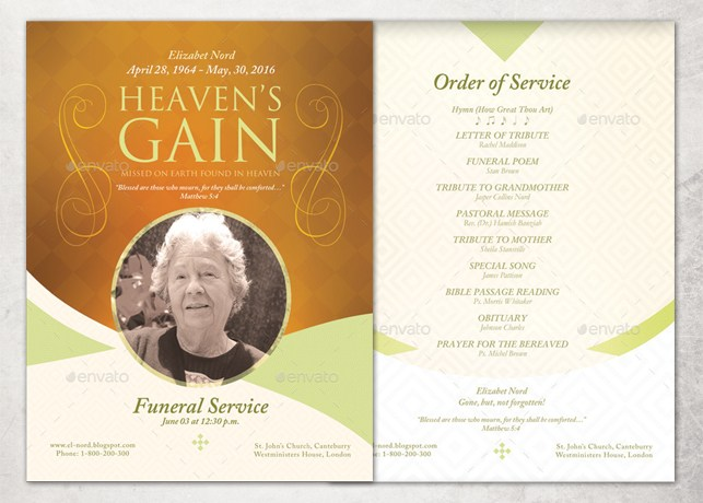 Funeral Poster Templates Free Download