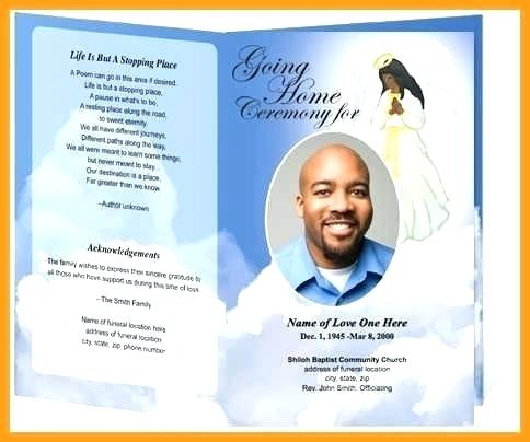 Funeral Program Death Announcement Template Free