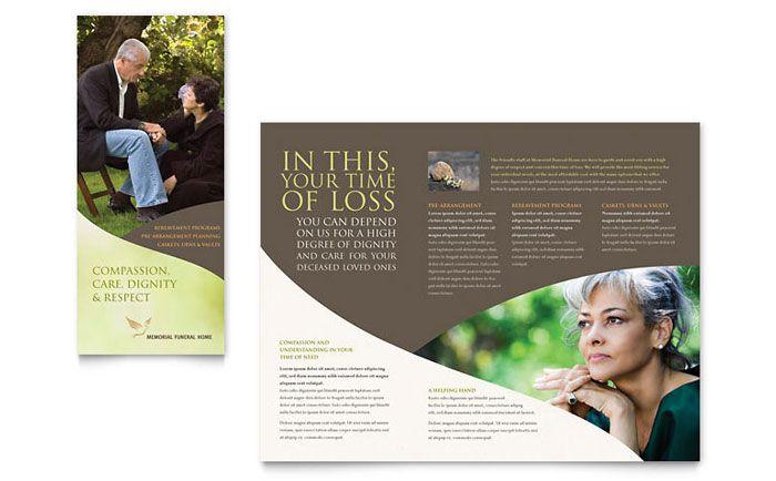 Funeral Program Funeral Brochure Template