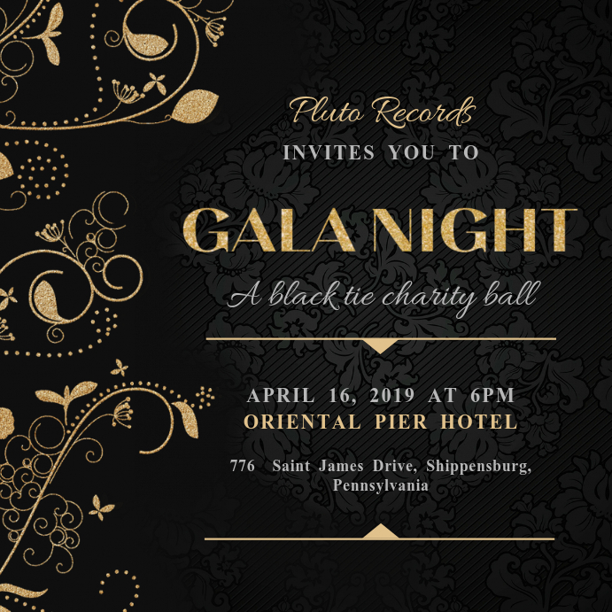 Gala Invitation Template