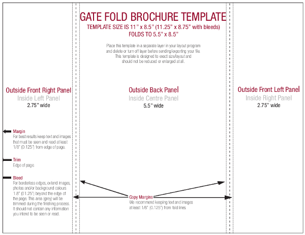 Gate Fold Brochure Template Publisher