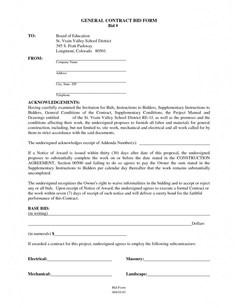 General Contractor Contractors Contract Template