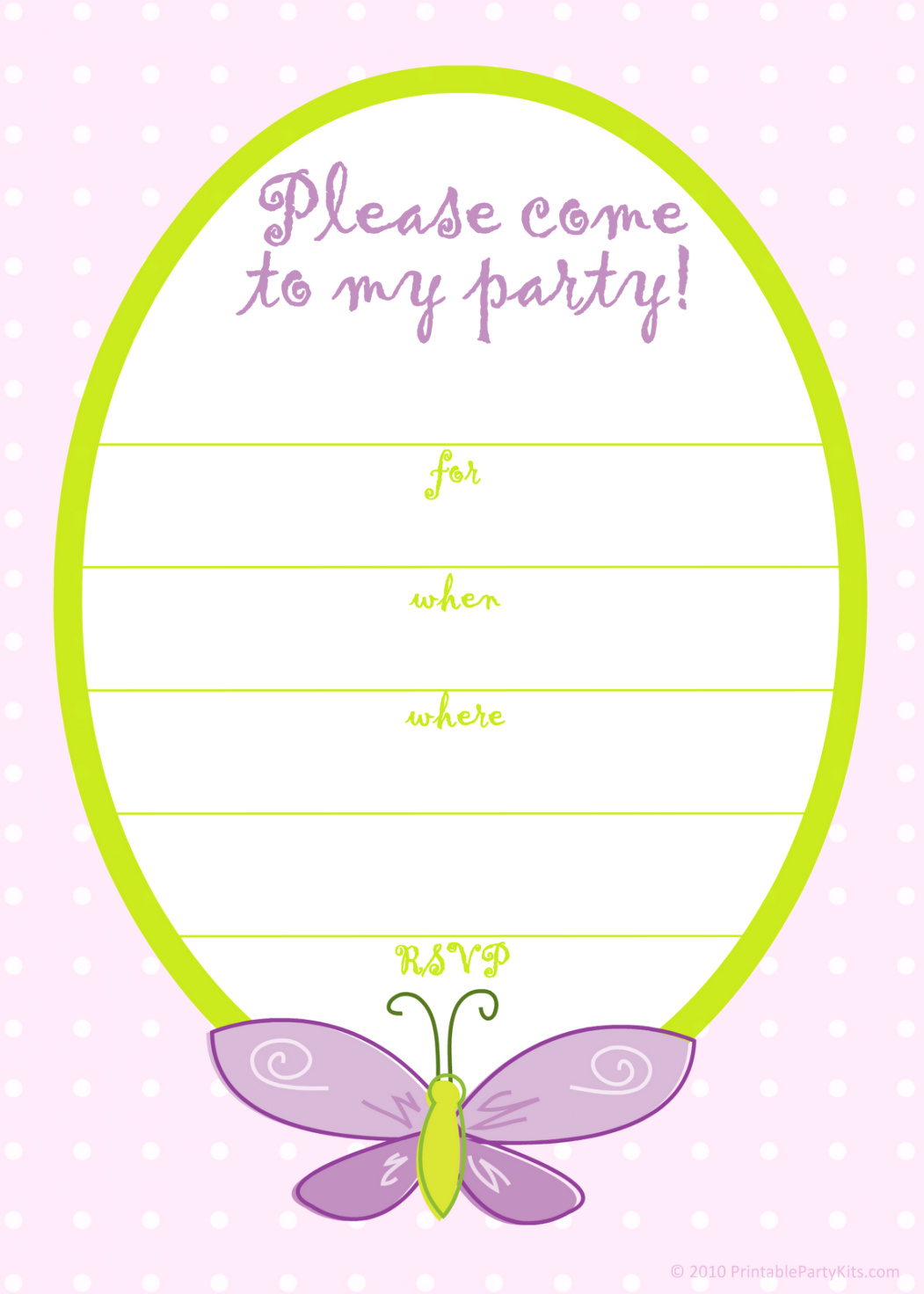 Girl Birthday Invitation Templates Free