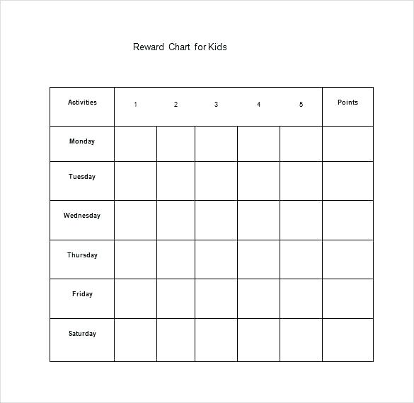 Good Behavior Chart Template Free