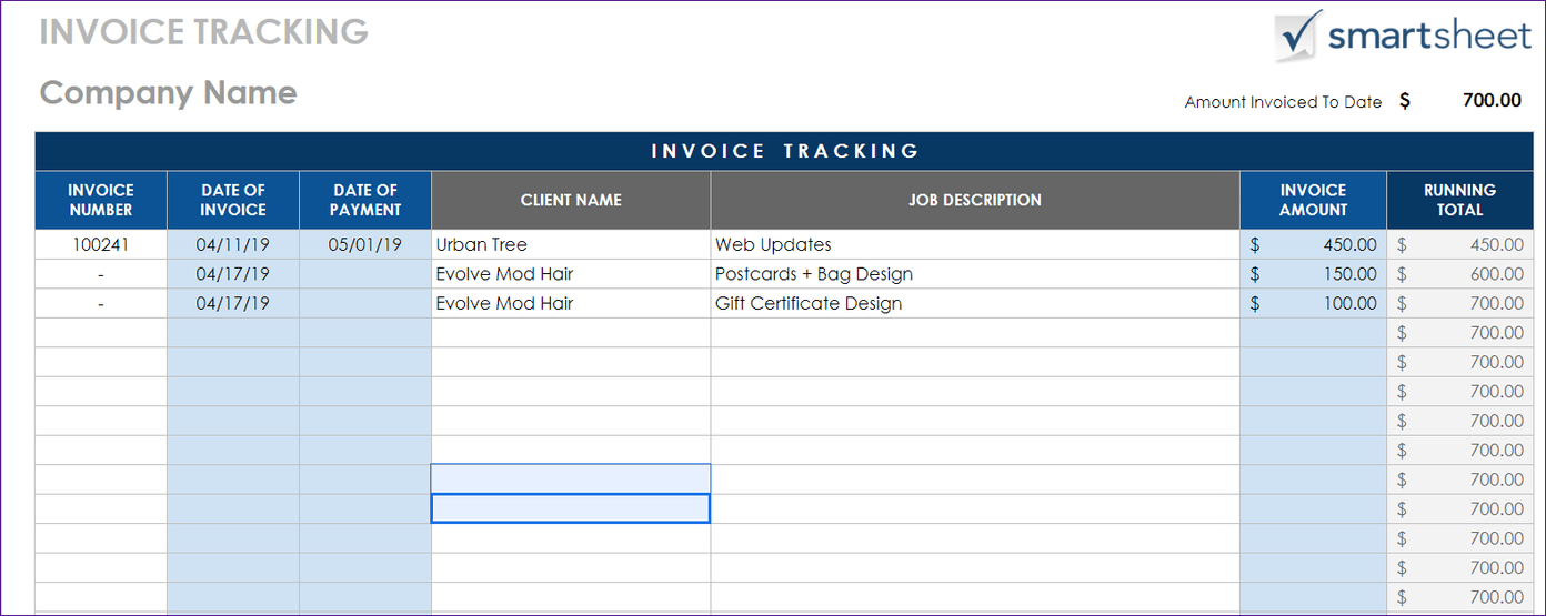 Google Sheets Invoice Templates
