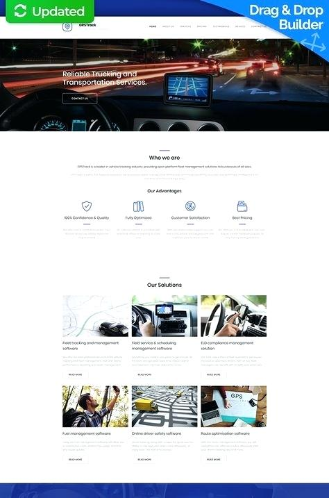 Gps Tracking Website Template Wordpress