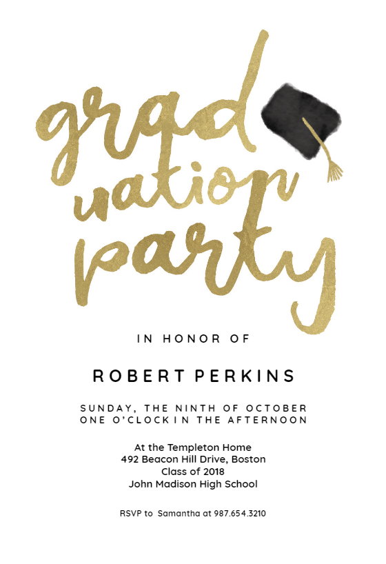 Graduation Party Invitation Template Free