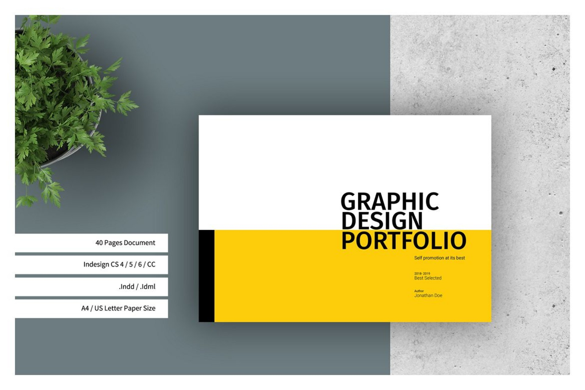 Graphic Design Portfolio Template Indesign Free Download
