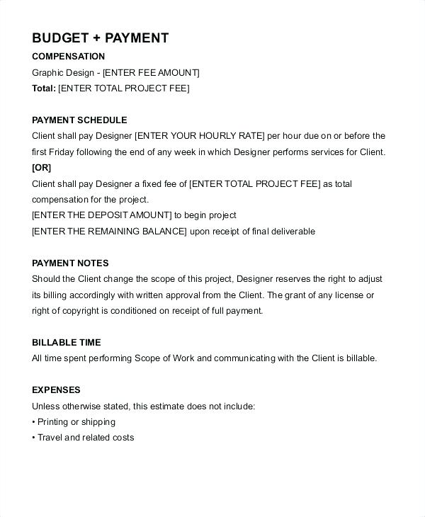 Graphic Design Retainer Contract Template
