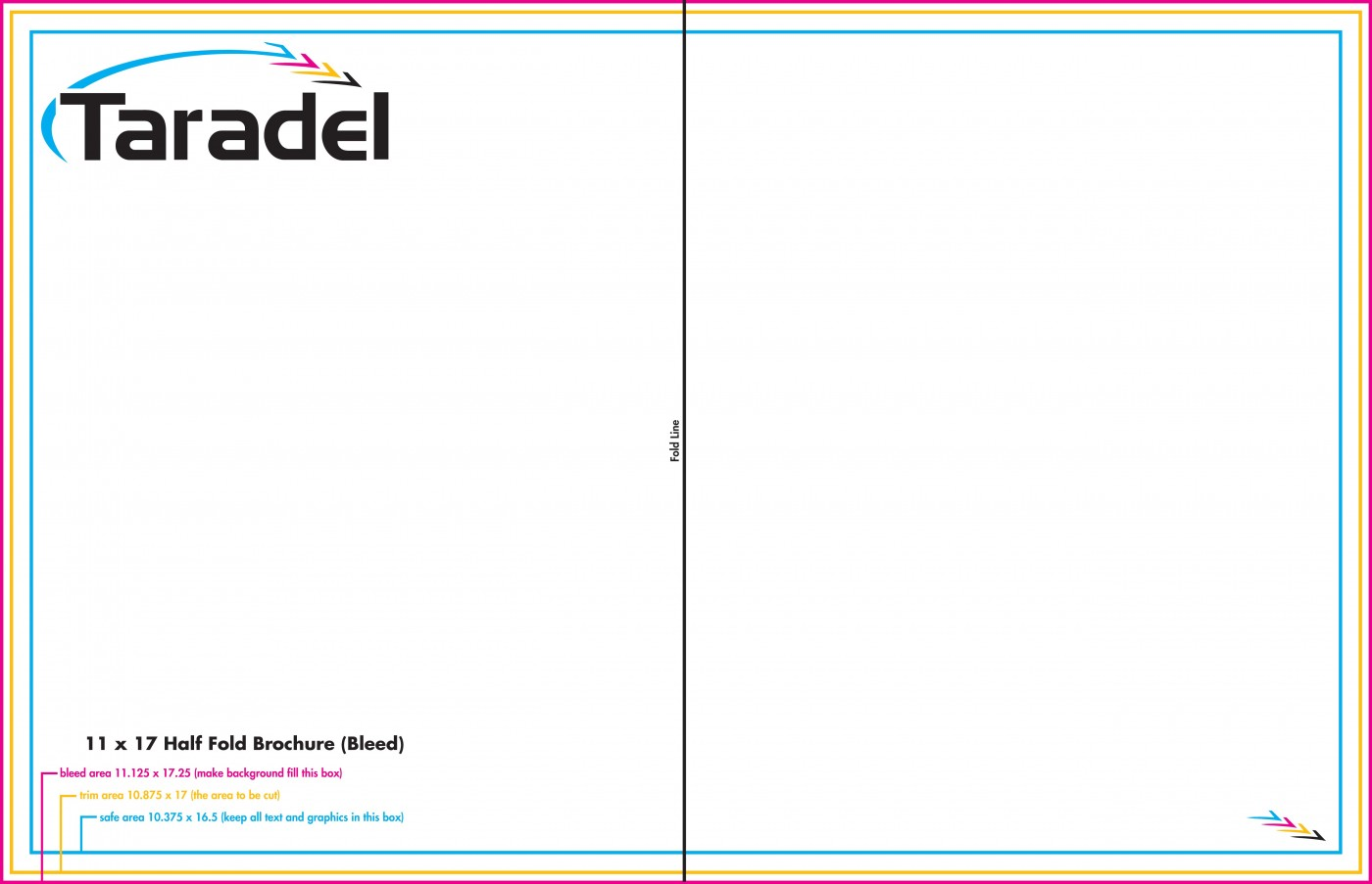 Half Fold 11x17 Brochure Template