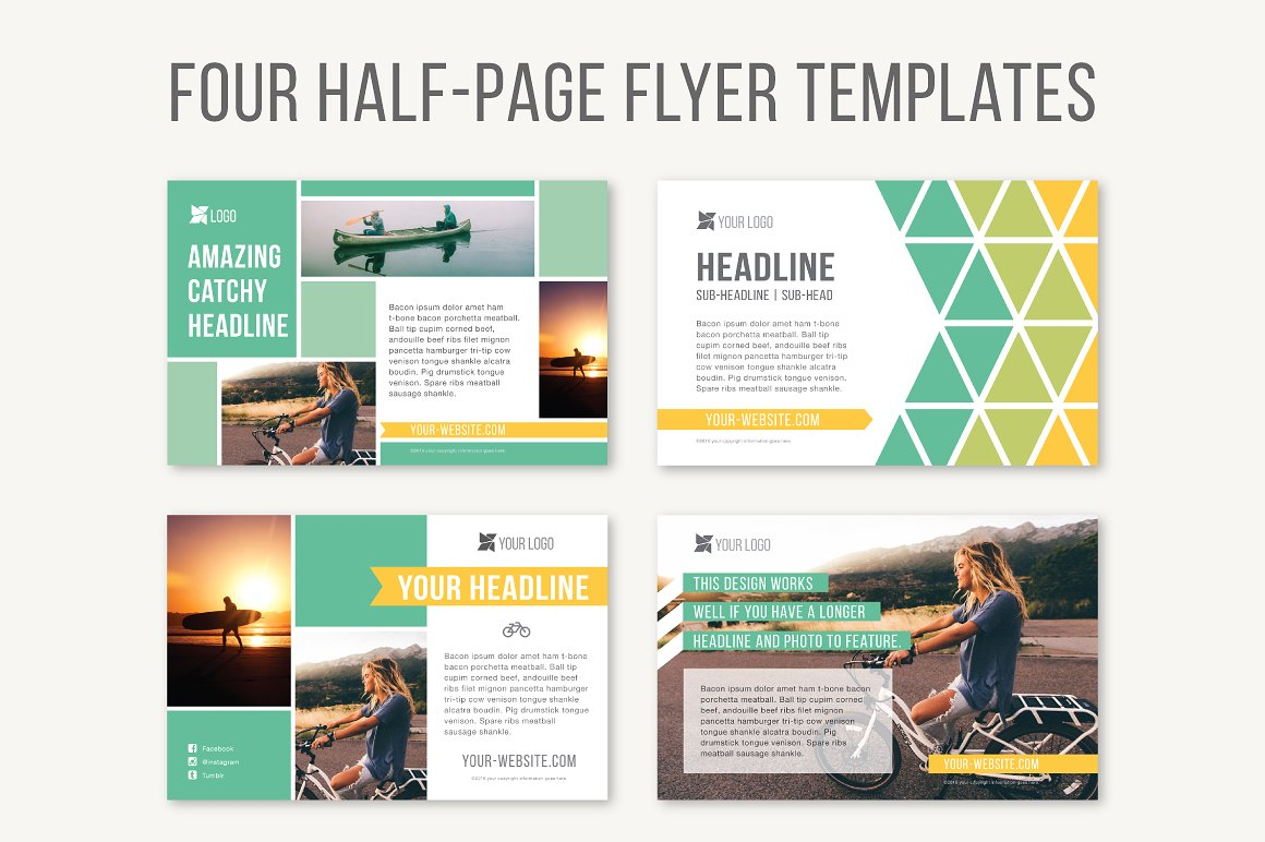 Half Page Brochure Template