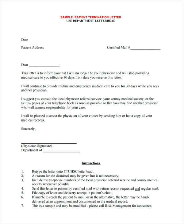 Hospital Patient Discharge Letter Template