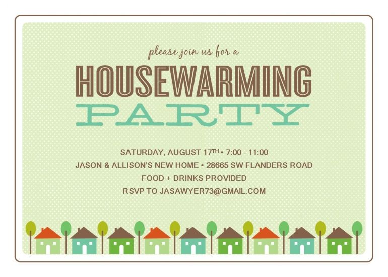 Housewarming Invite Template Free