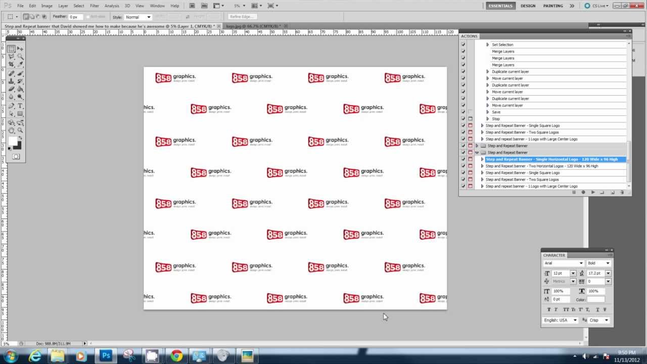 Illustrator Step And Repeat Banner Template