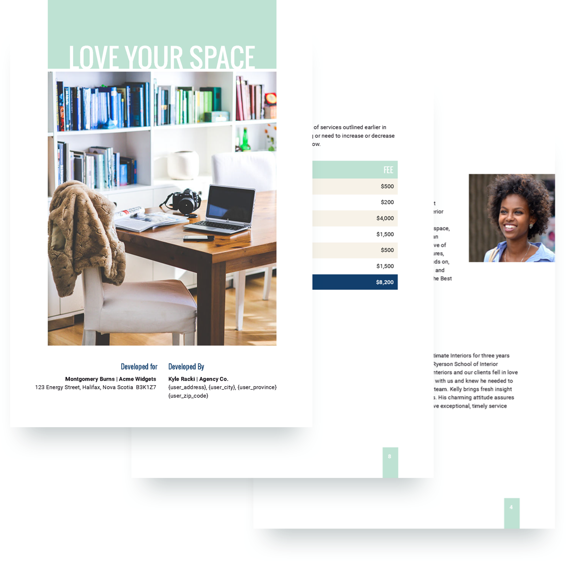 Interior Design Proposal Template Free